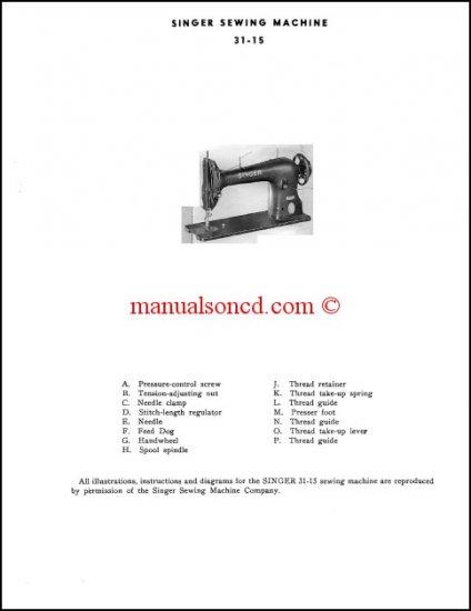 Singer 31-15 Industrial Sewing Machine Manual