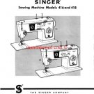 Singer 416 and 418 Stylist Sewing Machine Service And Repair Manual