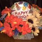 Happy Birthday Flower Gift Basket