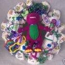 Barney Diaper Cake Wreaths