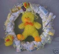 Yellow Duck Diaper Cake Wreaths