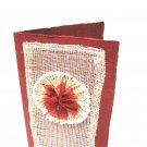 Red  Abaca Handcrafted card