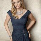 x #L113 Navy Blue Mother of Bride Dresses