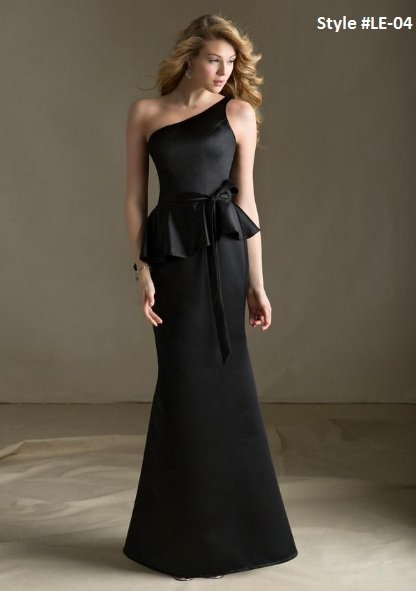 x #LE-04 One Shoulder Evening Wear, After 5 Black Tie Evening Dresses