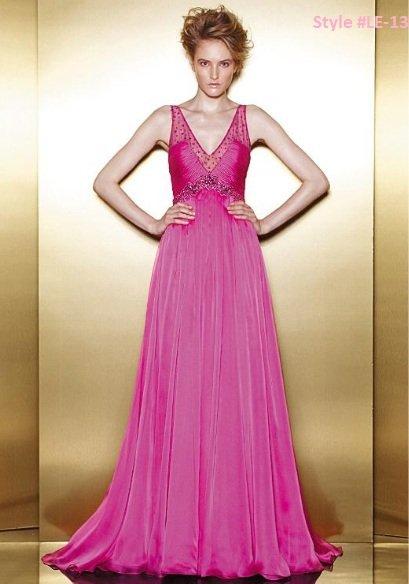 x #LE-13 Empire Waist Prom Dresses