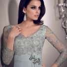 x #L66 Platinum Long Sleeve Mother of Bride Gowns