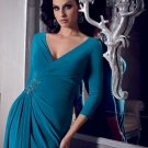 x #L70 Long 3/4 Sleeve Mother of Bride Evening Dresses