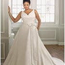 x #B2027 - Silk Taffeta Wedding Dresses for PLus Size Women