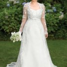 Long Sleeve Plus Size Lace Wedding Dresses - Darius Cordell