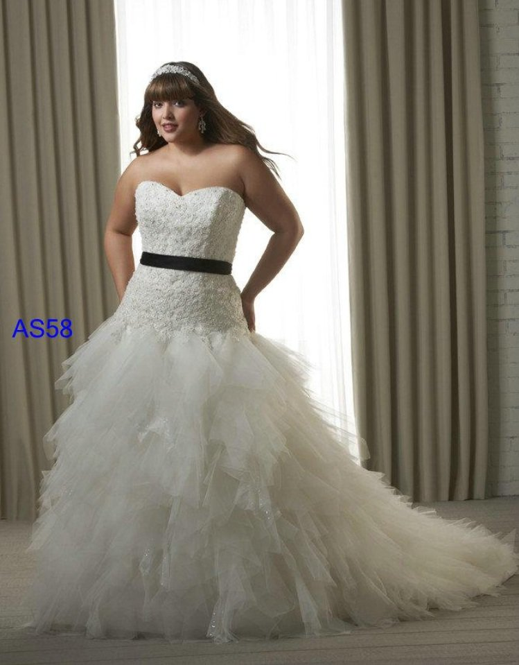 x #AS58 - Plus Size Designer Wedding Dresses