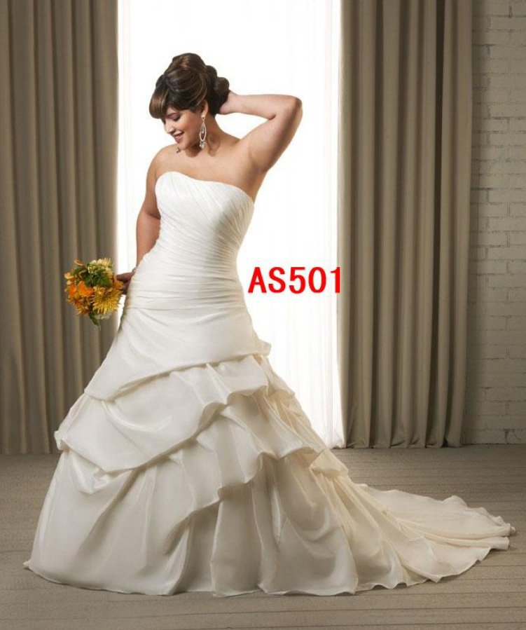x - #AS501 Plus Size Designer Wedding Gowns
