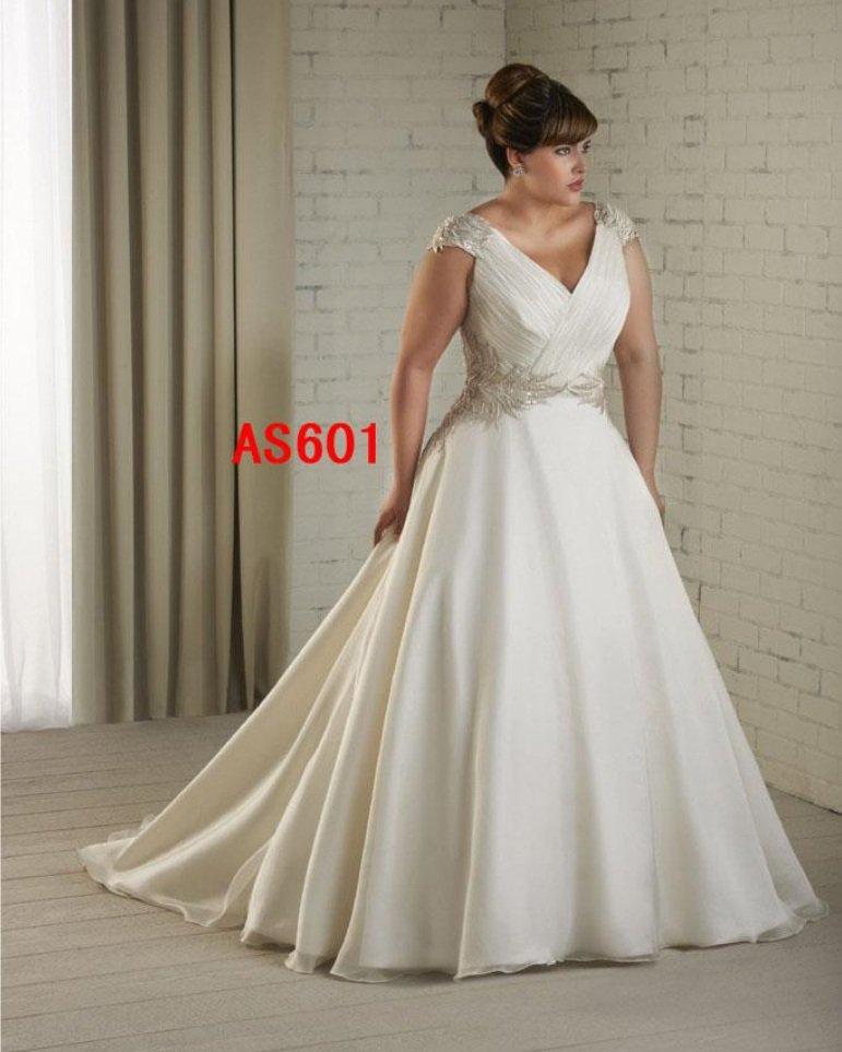 x #AS601 - Plus Size Vintage Wedding Dresses