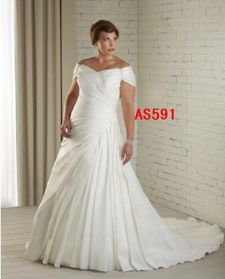 x - #AS591 Plus Size Modest Wedding Dresses