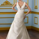 #530812F x V neck Wedding Dresses, Fitted Bridal Gowns
