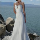 #BDW-008 x Beach Wedding Gowns, Outdoor Destination Wedding Dresses