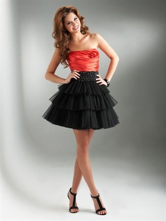 #DW-019 x - Red Cocktail Dresses - Black & Red Prom Dresses