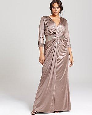 #2013-37 Long Sleeve Formal Dresses - Plus Size Evening Wear