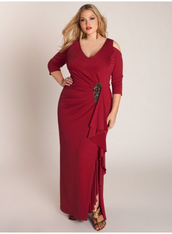 Darius Cordell Long Sleeve Special Occasion Dresses For Plus Size Women