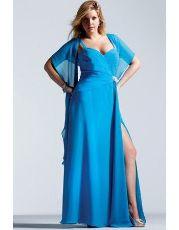 #2013-E26 x - Plus Size Evening Dresses with shawl