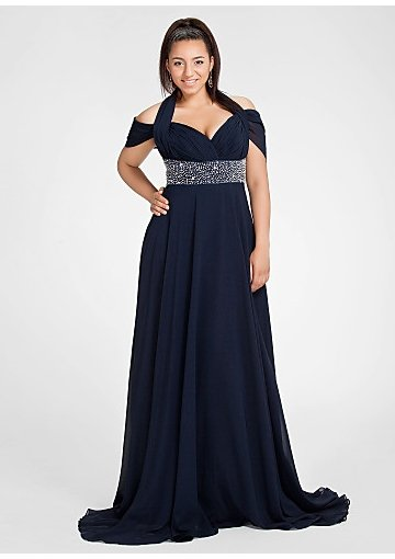 #2013-E65 x | Chiffon Evening Dresses for Plus Size Women