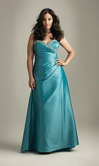 #2013-E82 x | Plus Size Ball Gowns - Strapless Evening Wear