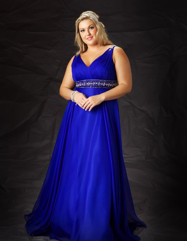 Darius Cordell Plus Size Formal Ball Gowns - Chiffon Evening Dresses