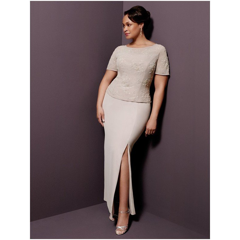 Darius Cordell Couture | Plus Size Mother of Groom Dresses, Short Sleeve Gowns