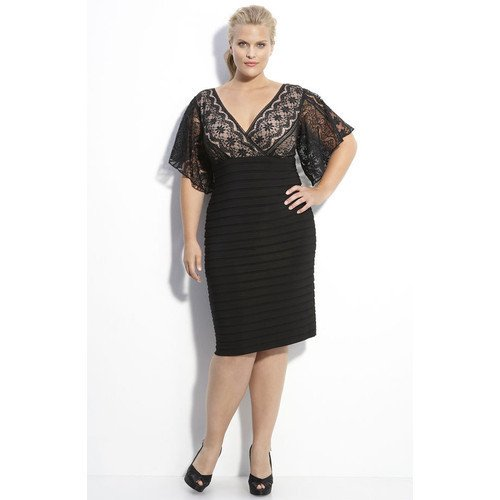 #C2013-50 x | Black Cocktail Dresses for larger women