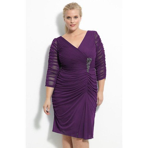 #C2013-51 x | Short Cocktail Dresses for Plus Size Full Figures