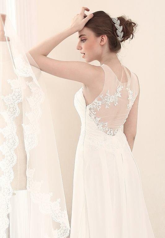 #BR819 x | Designer Wedding Dresses with Sheer Covered Back