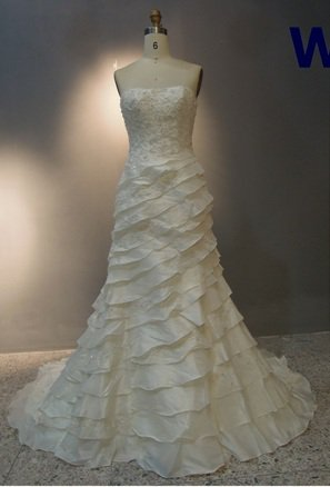 x - Ivory Wedding Dresses, Tiered Bridal Gowns