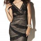 JL033aa x V-neck Nude Cocktail Dresses, Black Tie Formals