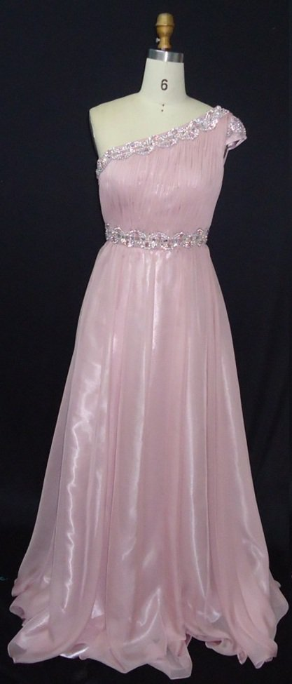 #MHC147 x - One Shoulder Formal Dresses, Cap Sleeve Evening Gowns