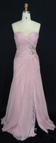 #MHC120 x - Pink Prom Dresses, Lace Evening Gowns