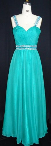#MHC102-A x - Empire Waist Prom Dresses, Beaded Evening Wear