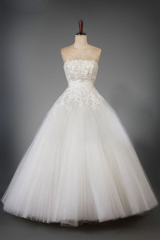 x - Style LWB011 - Strapless Plus Size Wedding Ball Gown