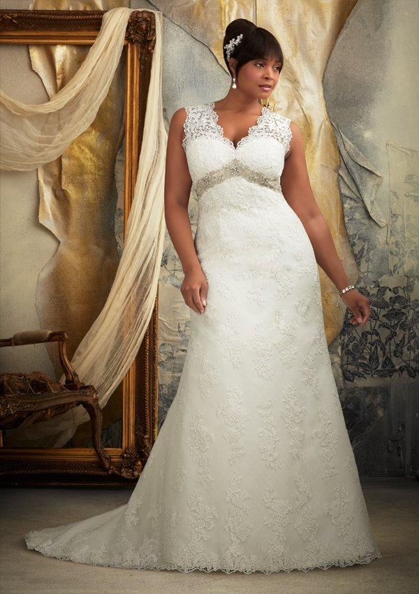 #3131 - Empire Waist Plus Size Wedding Gowns
