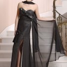 #LE059a Black Chiffon Formal Evening Dresses