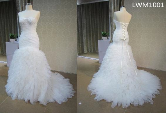 #LWM1001 - Strapless Fit-and-Flare Plus Size Wedding Dresses