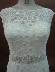 leaLW1225 - Illusion Neckline Wedding Gowns - Darius Cordell