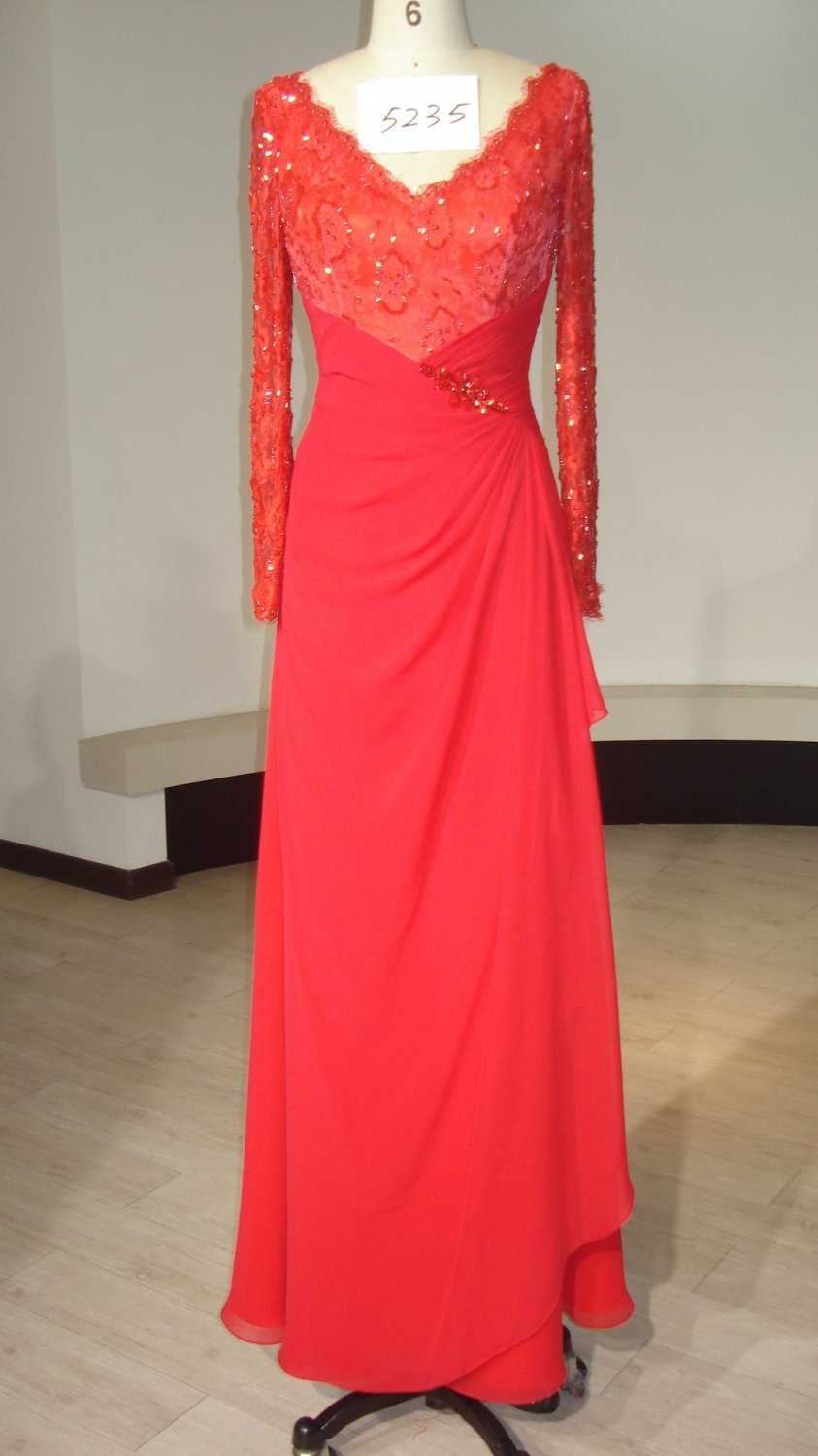 Style 5235 - Long Sleeve Mother of the Bride Evening Dresses