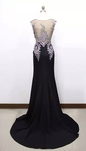 Black sleeveless evening dresses - Darius Cordell