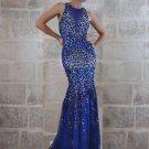 Blue Halter Evening Gowns - Darius Cordell.