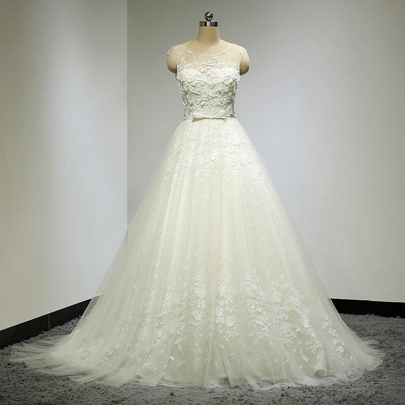 c2c896c439d7f Darius Cordell | Embroidered Bridal Gowns with Illusion neckline