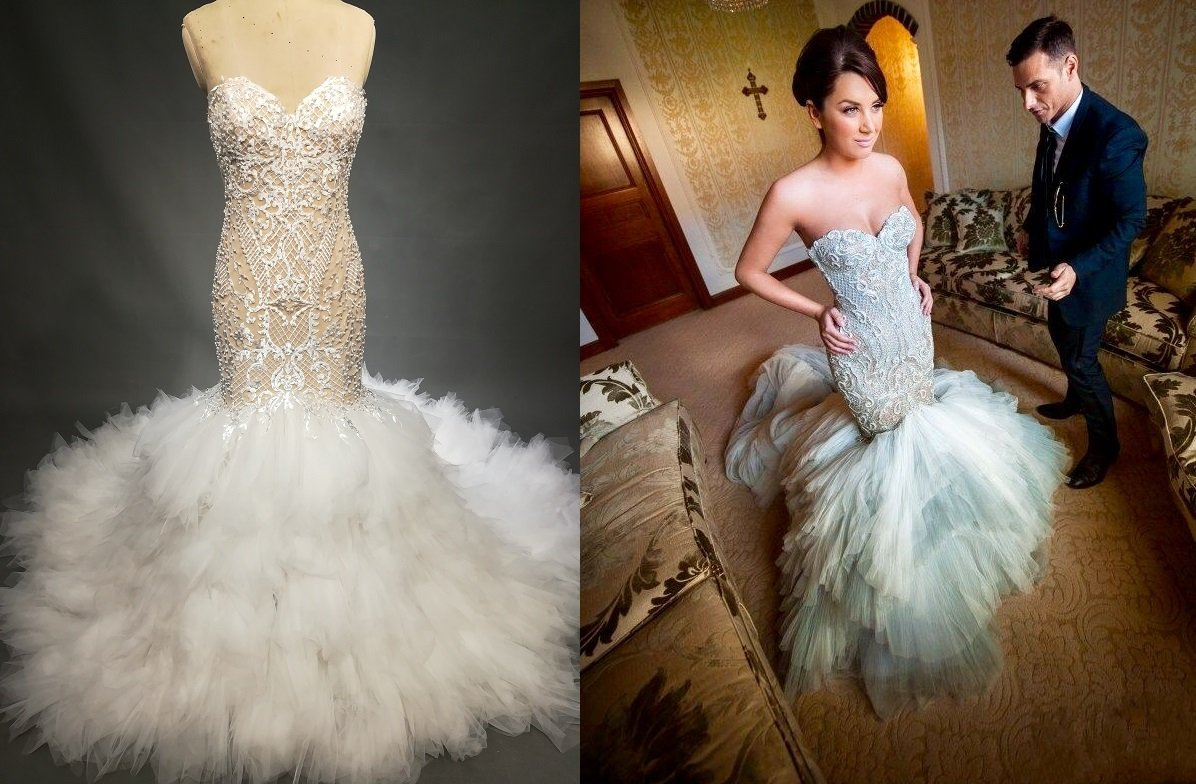 9fa292c38593f Darius Cordell fit-and-flare wedding gown inspired by J'aton Couture