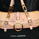 Dolce & Gabbana snakeskin & gold hardware handbag authentic