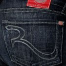 "New Rock & Republic Kasandra ""Rock The Cure"" jeans Revolution Blue 25 NWOT"