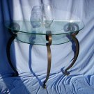 Glass Top Hall Table
