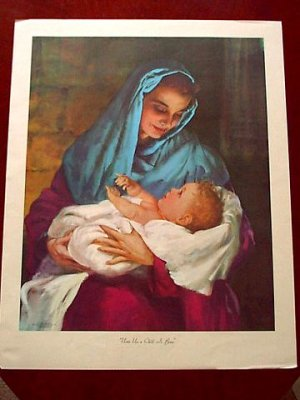 Print - Mary and the Baby
