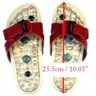 Reflexology Wooden Massage Sandals Shoes Slippers *EU42*